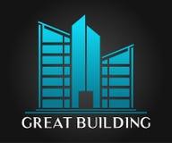 Дизайн вектора логотипа недвижимости, здания, конструкции и архитектуры Стоковое фото RF