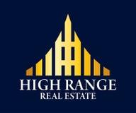 Дизайн вектора логотипа недвижимости, здания, конструкции и архитектуры Стоковая Фотография