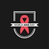 Дизайн вектора Международного дня СПИДА Стоковое Изображение RF