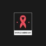 Дизайн вектора Международного дня СПИДА Стоковая Фотография RF