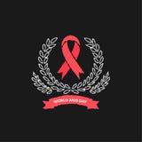 Дизайн вектора Международного дня СПИДА Стоковое фото RF