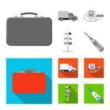 Дизайн вектора символа фармации и больницы Комплект фармации и иллюстрации вектора запаса дела бесплатная иллюстрация