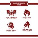 Дизайн вектора собрания логотипа дракона иллюстрация вектора