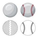 Дизайн вектора спорта и символа шарика Комплект спорта и атлетической иллюстрации вектора запаса иллюстрация вектора