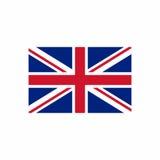 Дизайн вектора флага Великобритании Стоковая Фотография