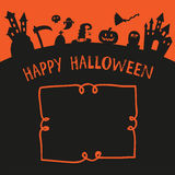 Дизайн вектора хеллоуина плаката счастливый иллюстрация штока