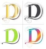 Дизайн вектора шрифта алфавита d Стоковые Фото