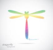 Дизайн вектора dragonfly Стоковая Фотография RF