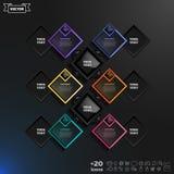 Дизайн вектора infographic с красочными rhombs Стоковое Изображение
