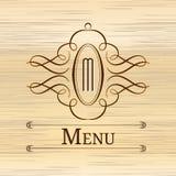 Дизайн вензеля каллиграфии флористический, винтажный логотип картины Стоковые Фото