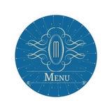 Дизайн вензеля каллиграфии флористический, винтажный логотип картины Стоковое Изображение