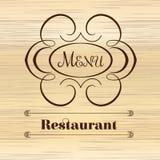 Дизайн вензеля каллиграфии флористический, винтажный логотип картины Стоковое Фото