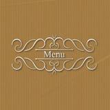 Дизайн вензеля каллиграфии флористический, винтажный логотип картины Стоковые Фотографии RF