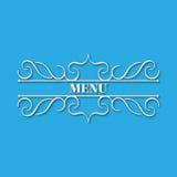 Дизайн вензеля каллиграфии флористический, винтажный логотип картины Стоковая Фотография RF