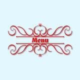 Дизайн вензеля каллиграфии флористический, винтажный логотип картины Стоковое фото RF