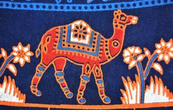 Дизайн верблюда на одежде Стоковые Изображения