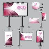 Дизайн внешней рекламы вектора для компании с кругами цвета Стоковые Изображения