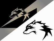 Дизайн волка логотипа Стоковые Изображения