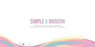 Дизайн волны заголовка вебсайта красочный Стоковая Фотография