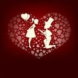 Дизайн в мальчике и девушке влюбленности Стоковая Фотография RF