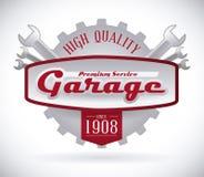 Дизайн гаража иллюстрация штока