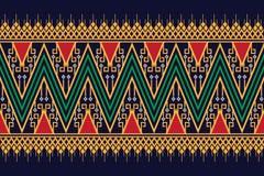 Дизайн геометрической этнической картины традиционный для предпосылки, ковра, обоев, одежды, оборачивая, батика, ткани, саронга Стоковые Изображения RF