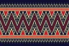Дизайн геометрической этнической картины традиционный для предпосылки, ковра, обоев, одежды, оборачивая, батика, ткани, саронга Стоковое Изображение RF