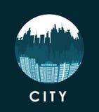 Дизайн города значок здания Красочная иллюстрация, вектор Стоковое Изображение RF