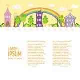 Дизайн города плоский Стоковые Фото