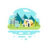 Дизайн города Eco современный Стоковое Изображение RF