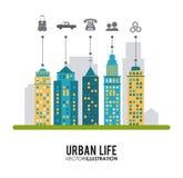 Дизайн городской жизни Стоковое фото RF