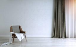 Дизайн гостиной, интерьер современного стиля иллюстрация вектора