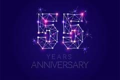Дизайн годовщины Абстрактная форма с соединенными линиями и светом Стоковые Фотографии RF