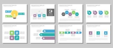 Дизайн голубого и зеленого универсального шаблона вебсайта листовки рогульки брошюры плоский бесплатная иллюстрация