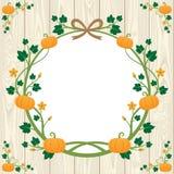 Дизайн границы тыквы хеллоуина Стоковая Фотография