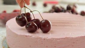 Дизайн еды и чизкейк варить акции видеоматериалы