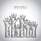 Дизайн демократии бесплатная иллюстрация