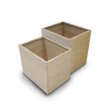 Дизайн деревянной коробки для домочадца украшенного как предпосылка Стоковые Изображения