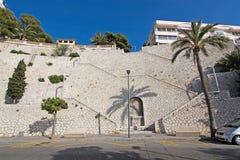 Дизайн лестницы сухого камня Стоковое Фото