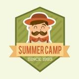 Дизайн летнего лагеря Стоковые Изображения