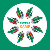 Дизайн летнего лагеря Стоковая Фотография