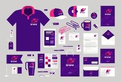 Дизайн дела корпоративная тождественность больше моего портфолио устанавливает шаблон Логотип, ярлык, продвижение бренда также ве иллюстрация вектора