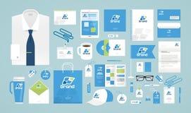 Дизайн дела корпоративная тождественность больше моего портфолио устанавливает шаблон Логотип, ярлык, продвижение бренда также ве бесплатная иллюстрация
