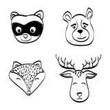Дизайн животного значка установленный, иллюстрация вектора иллюстрация штока