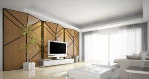 Дизайн живущей комнаты, современный Стоковая Фотография