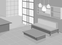 Дизайн живущей комнаты бесплатная иллюстрация