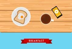 Дизайн завтрака Стоковое Изображение