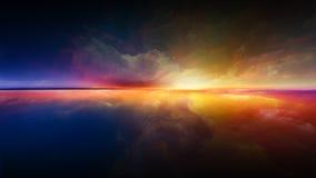 Дизайн захода солнца иллюстрация вектора