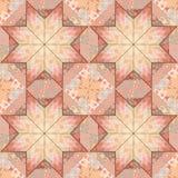 Дизайн звезды предпосылки картины лоскутного одеяла безшовный Стоковые Фото