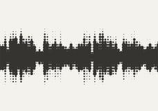 Дизайн звуковой войны полутонового изображения вектора Стоковая Фотография RF